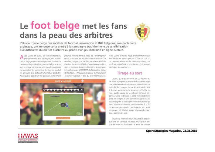 Championnat de football belge promotional giveaways