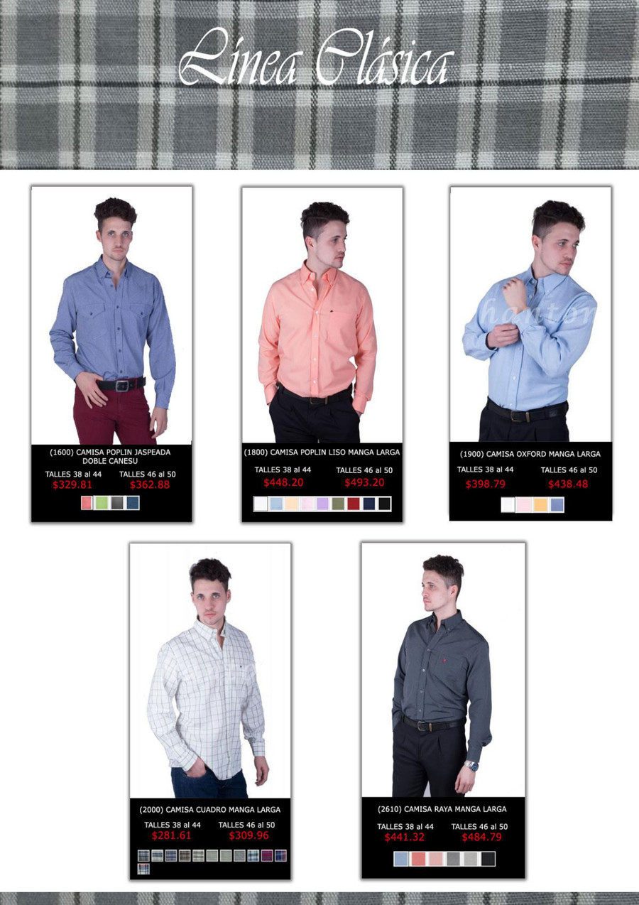 1ff119950 Catálogo ropa de hombre por mayor - Indumentaria masculina por mayor ...