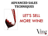Sell More Wine Boot Camp Day 3 - VingDirect : VingDirect