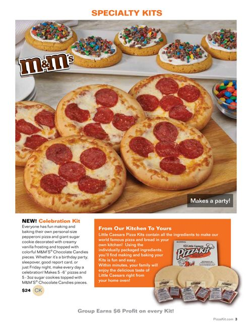 Little Caesars Pizza Kits Brochure Fundraiser