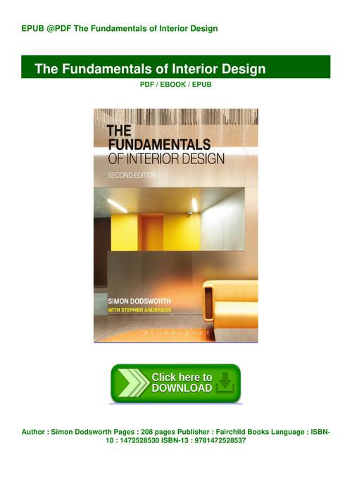 Pdf Book Free Download The Fundamentals Of Interior Design Read Online