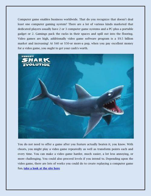 Hungry Shark Evolution Hack by rackedbobcat - Flipsnack