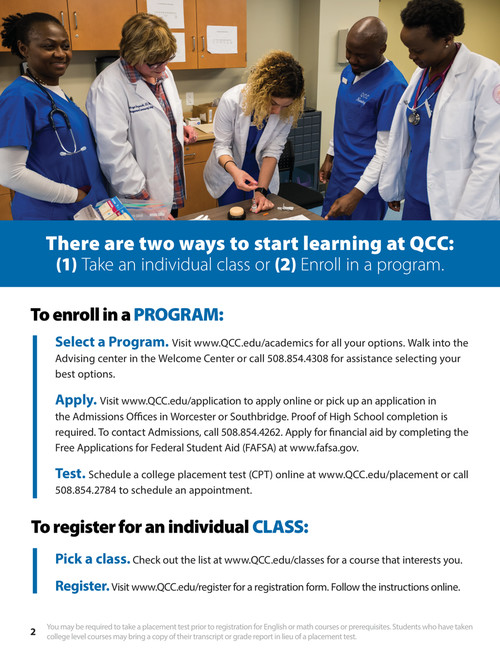 Register For Classes Quinsigamond Community College Qcc
