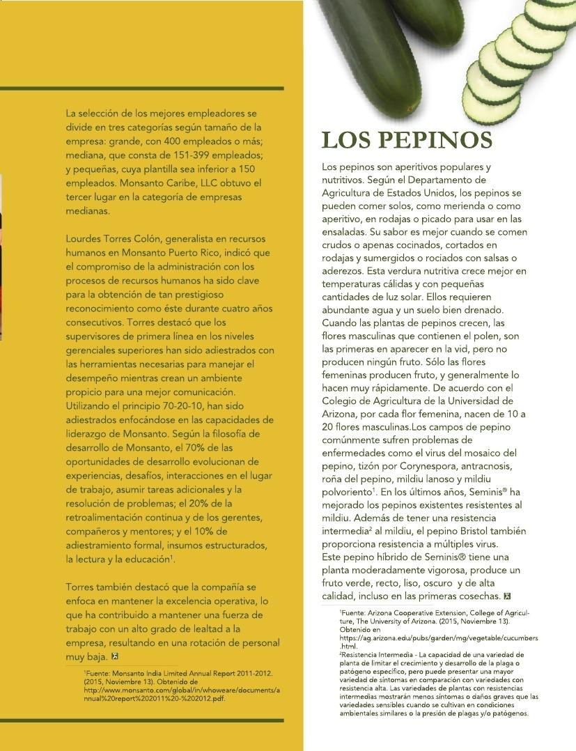 Monsanto Caribe Newsletter - Year 3 Volume 1