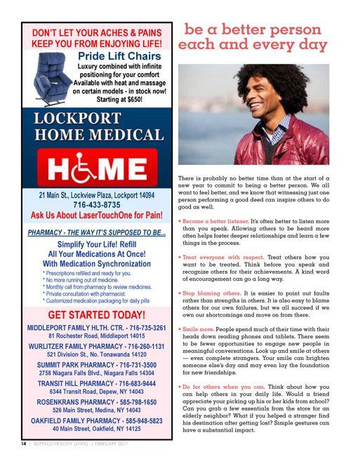 February 2017 - Buffalo Healthy Living Magazine