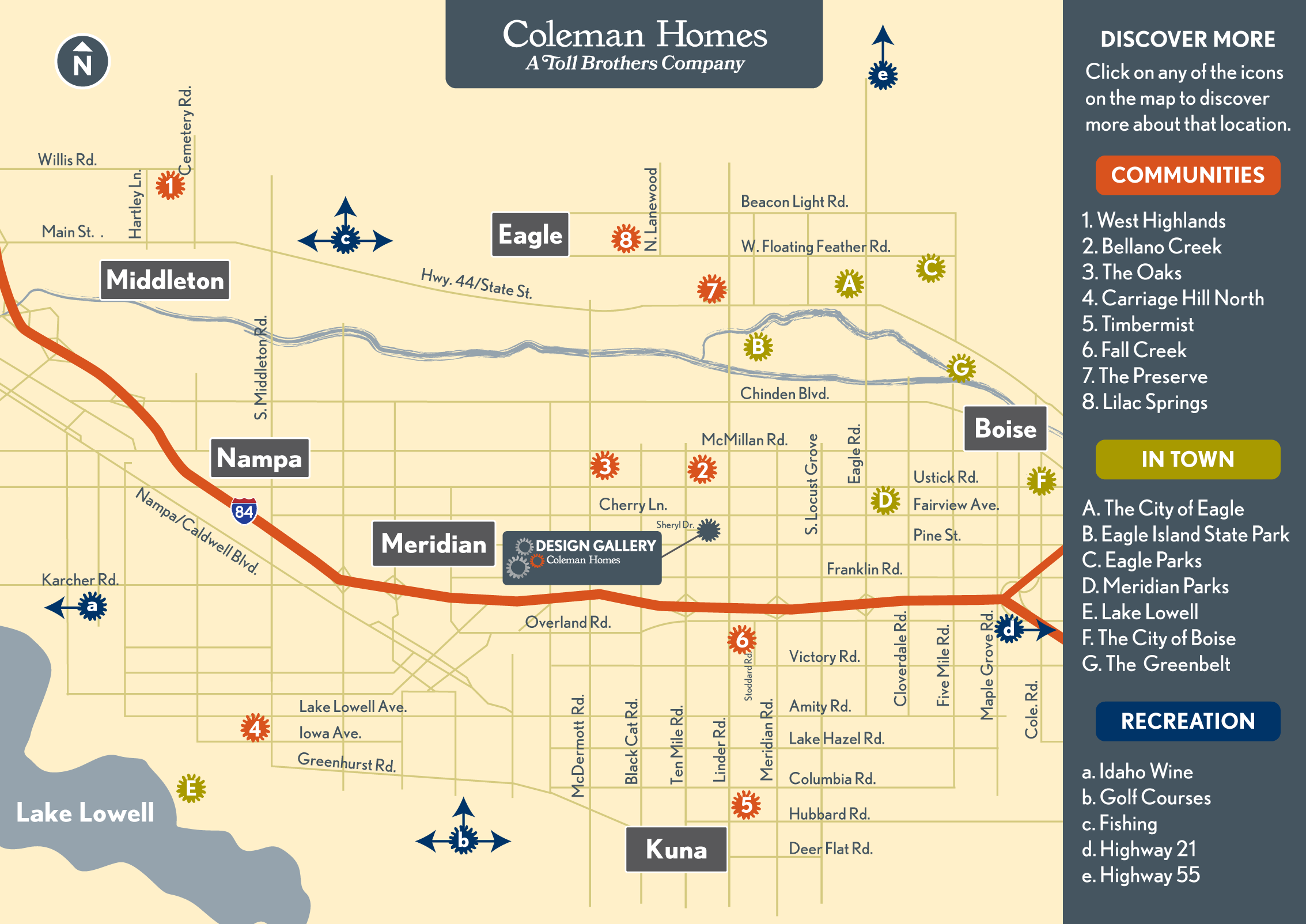 Discover the Boise Area with this Interactive Map by Coleman Homes