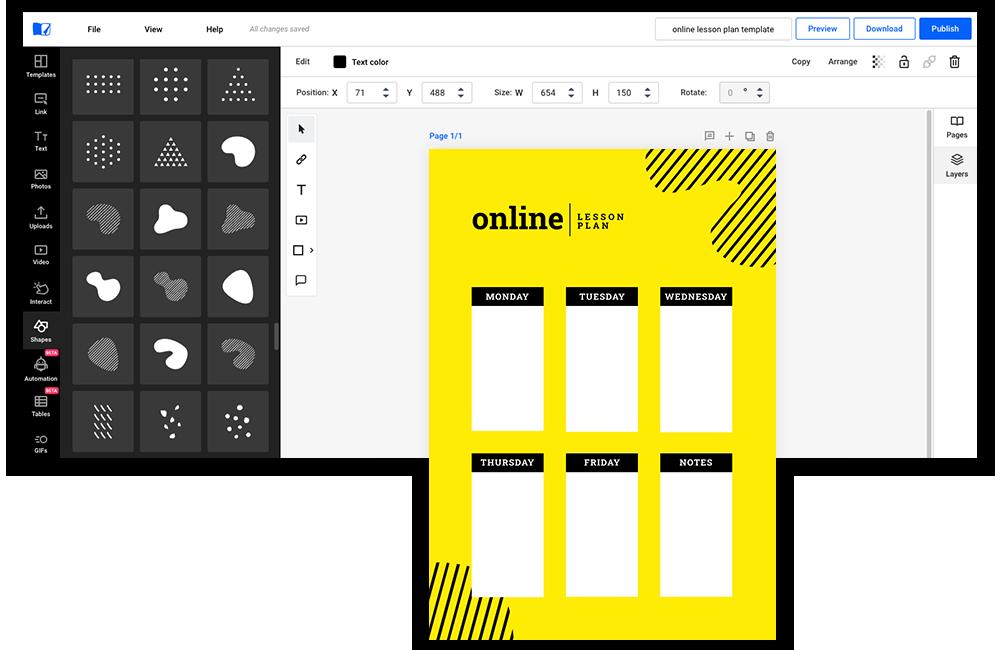 Vormen, iconen, illustraties beschikbaar in Flipsnack
