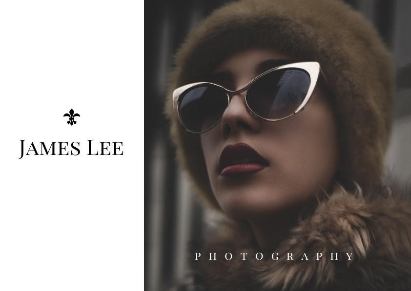 Exemple et modèle de portofolio de photographie de portrait