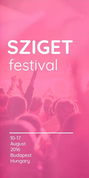 Sziget festival pamphlet