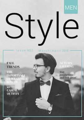 Men's Magazine Template