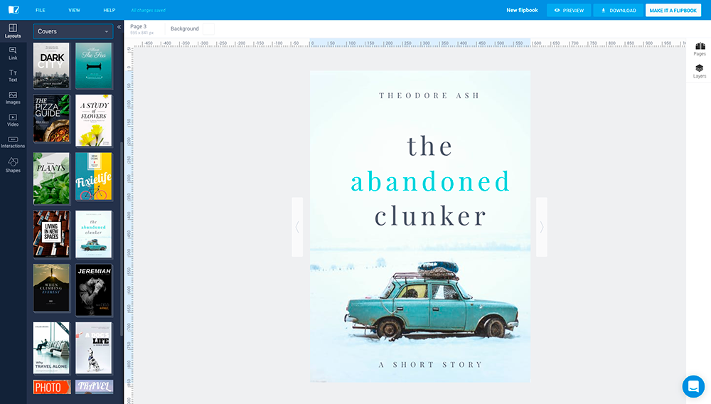 Online Book Cover Editor