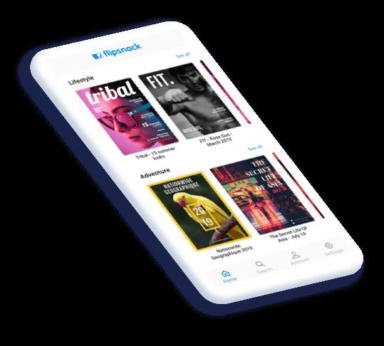 Flipbook para dispositivos móviles