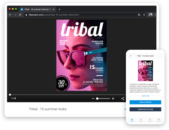 Digital flipbook maker for stunning magazines