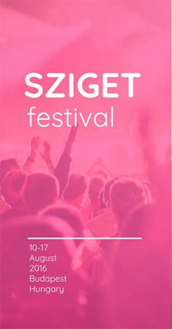 Festival brochure template