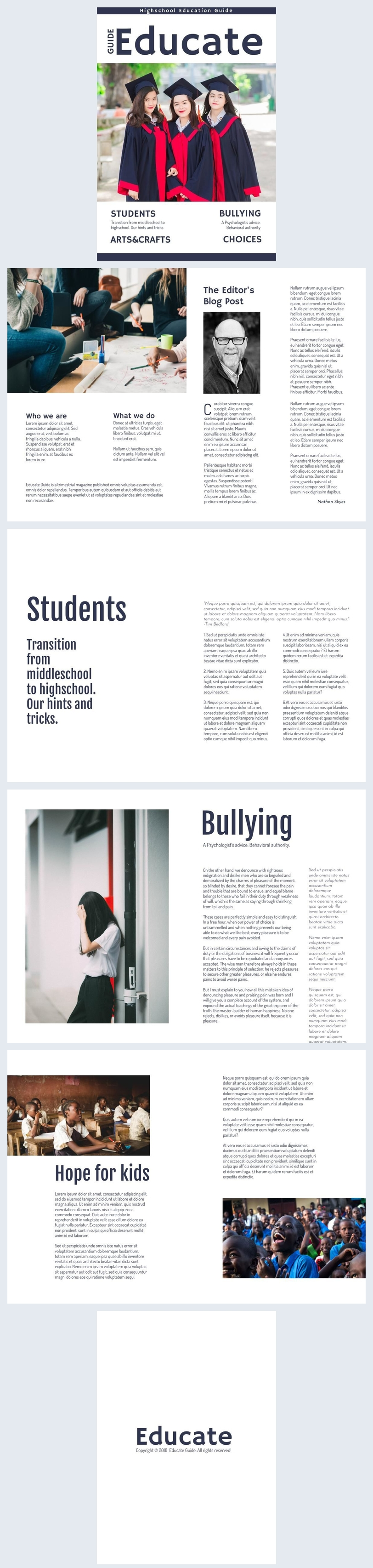 School Magazine Design