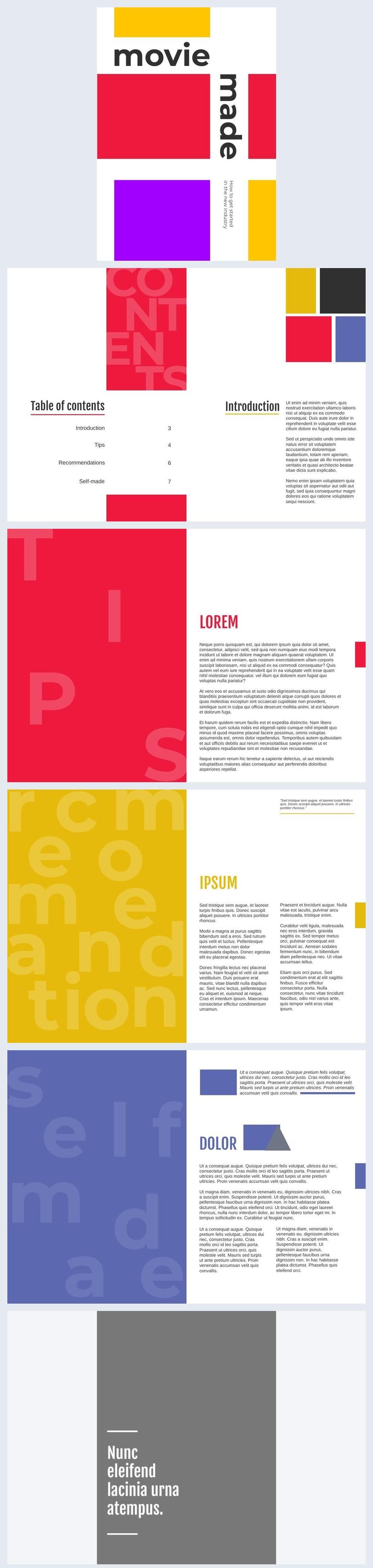 Kleurrijk tijdschrift ontwerp