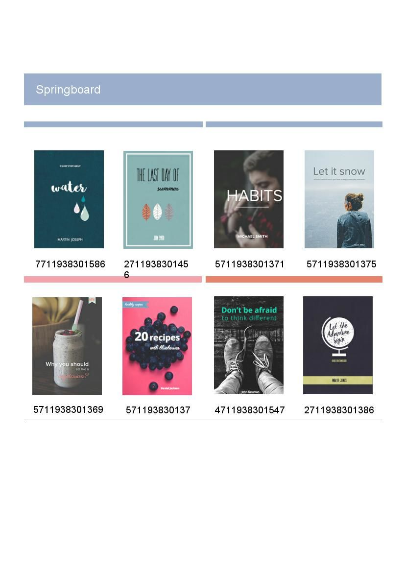 retro book catalog design  u0026 template