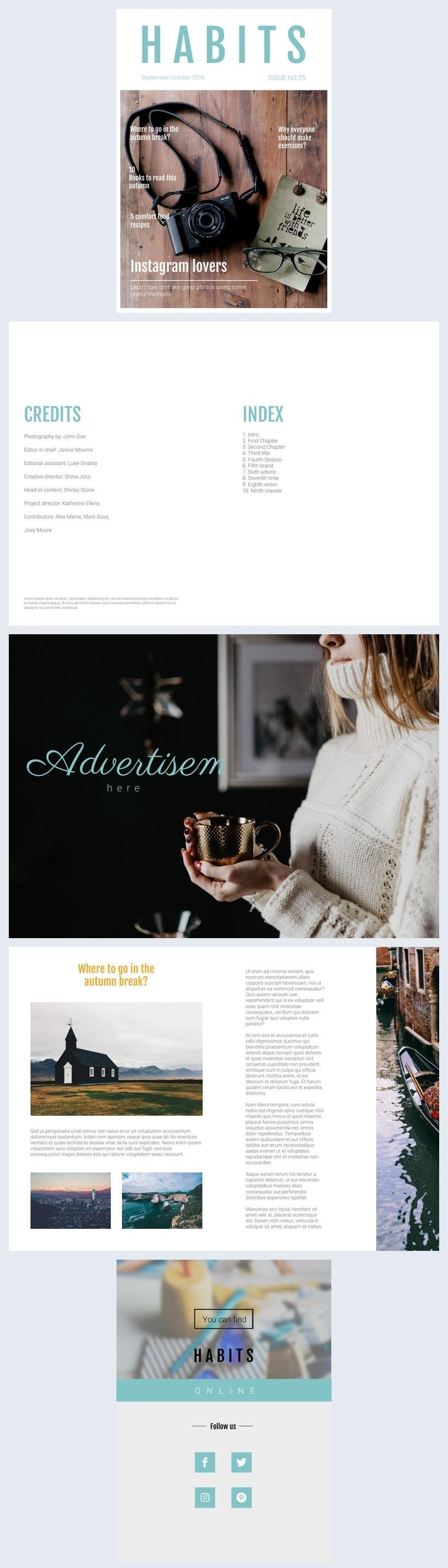 Magazine sur le style de vie des femmes