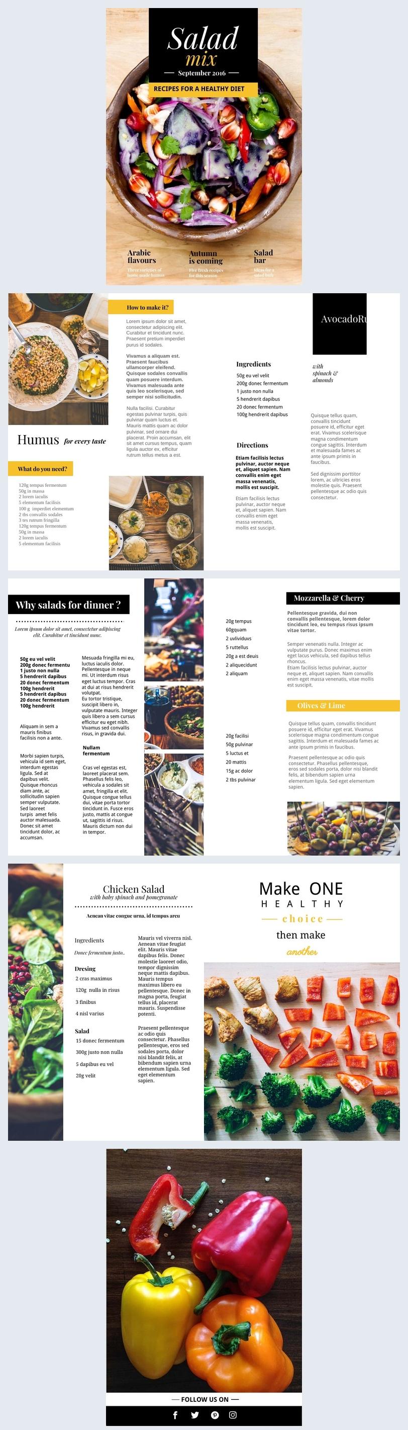 Kochbuch Seitenvorlage