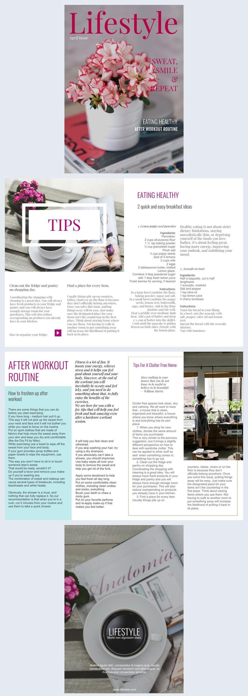 Delicate Lifestyle Magazine Design