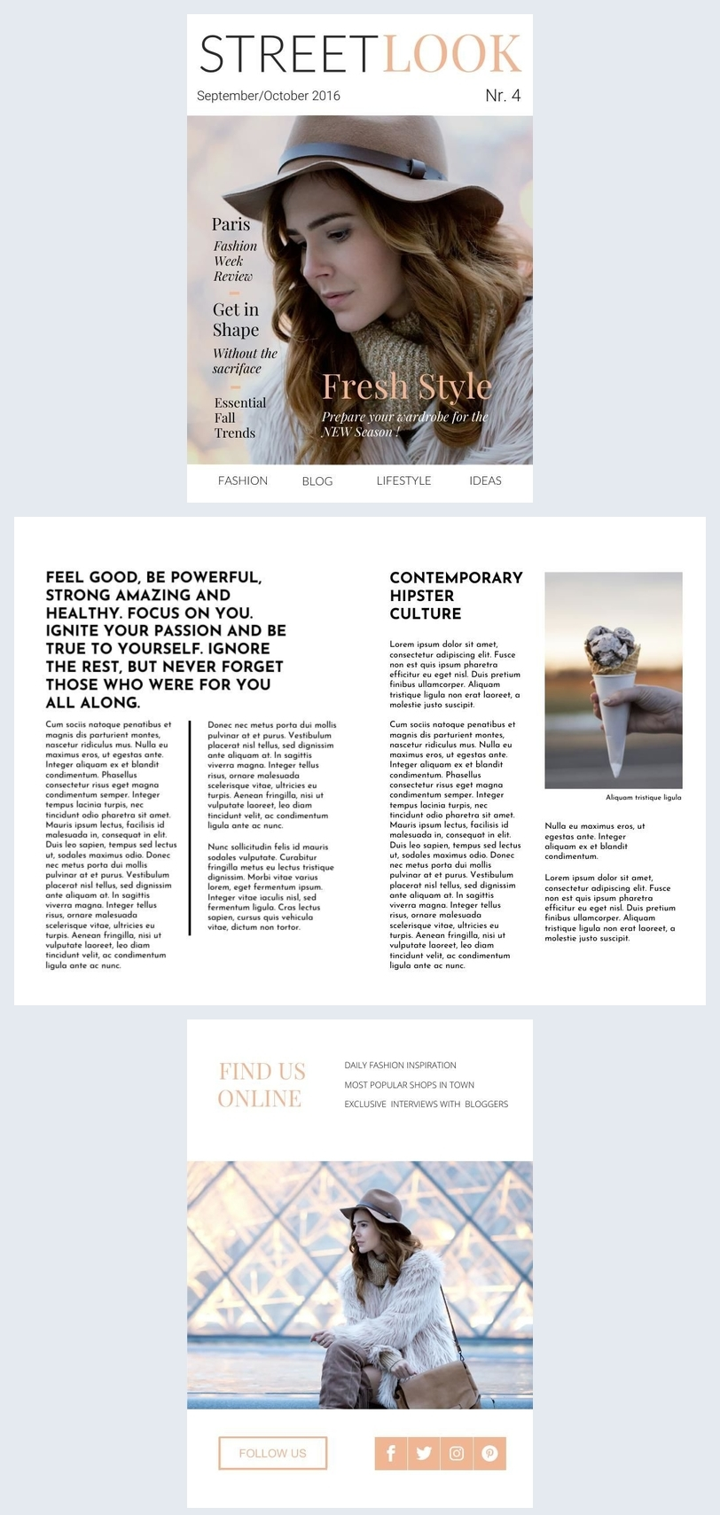 Women's Fashion Magazine Design