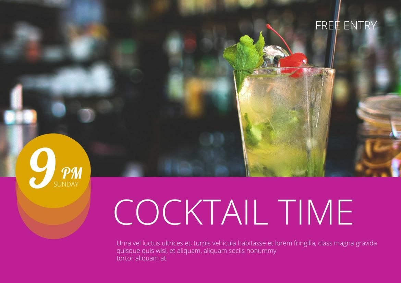 Cocktailparty Flyer-Design