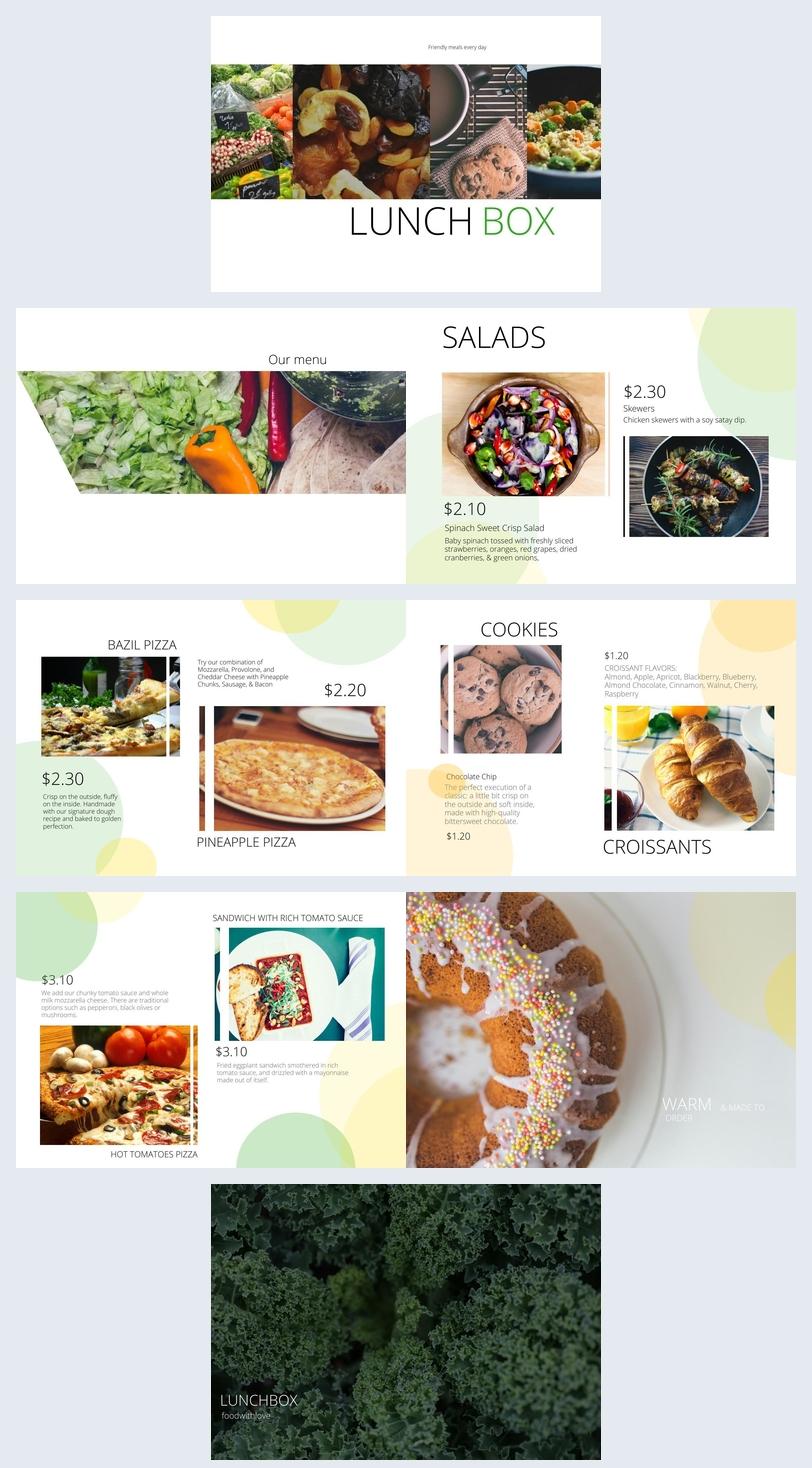 Lunch Menu Design