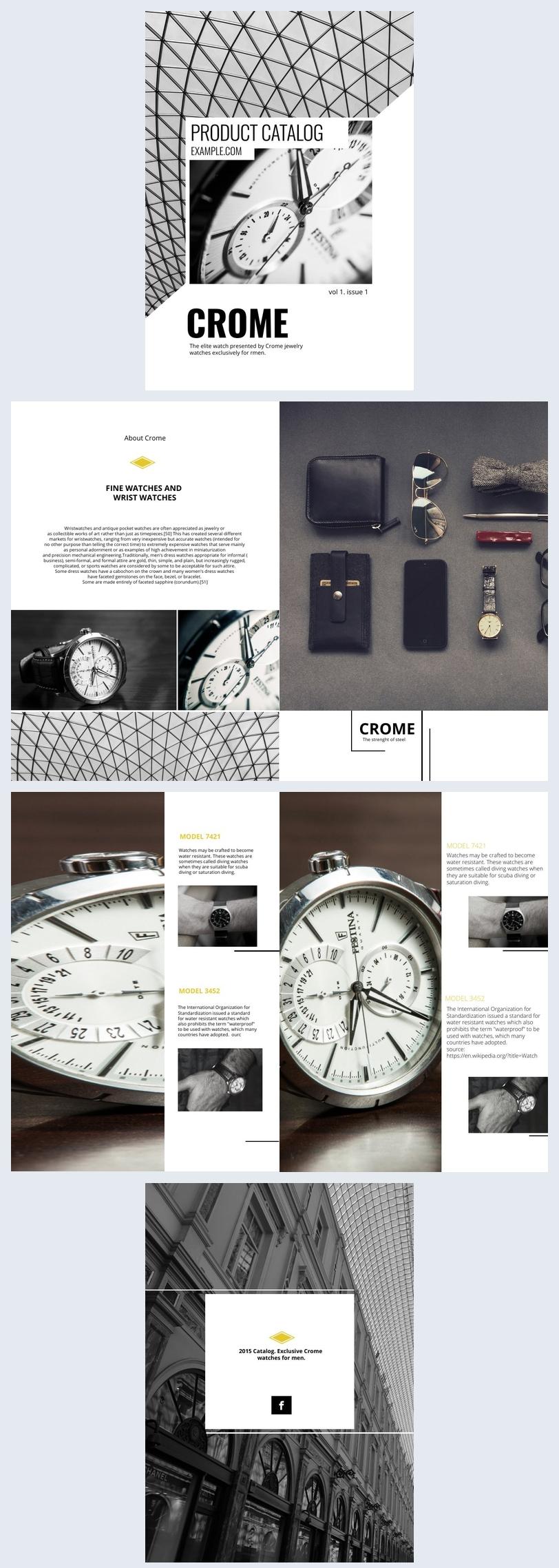 Diseño para catálogo de productos