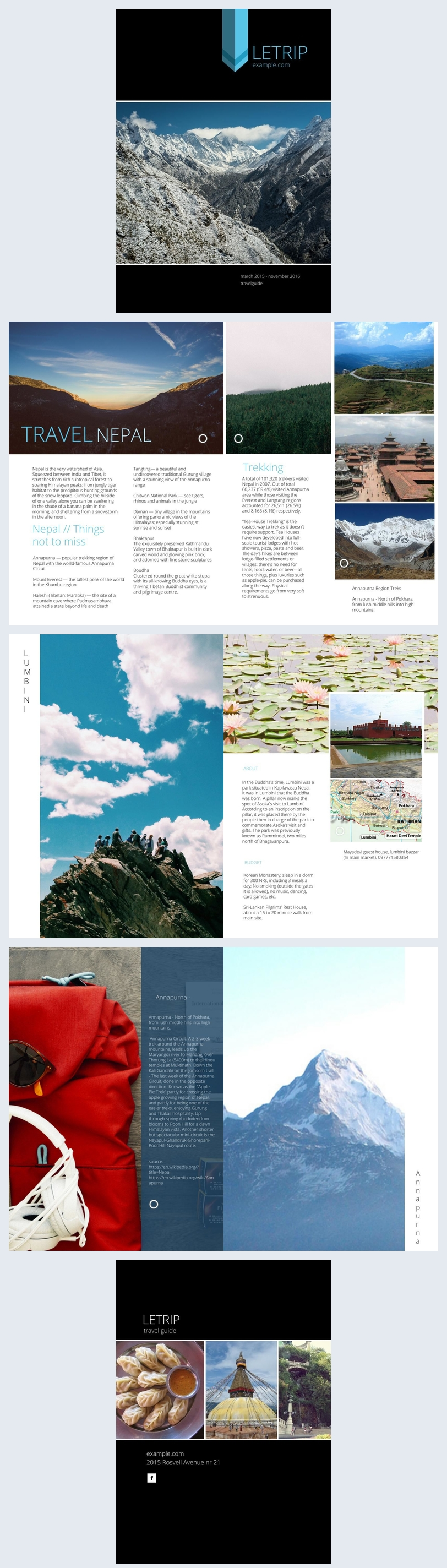 Modernes Design für Reisemagazine