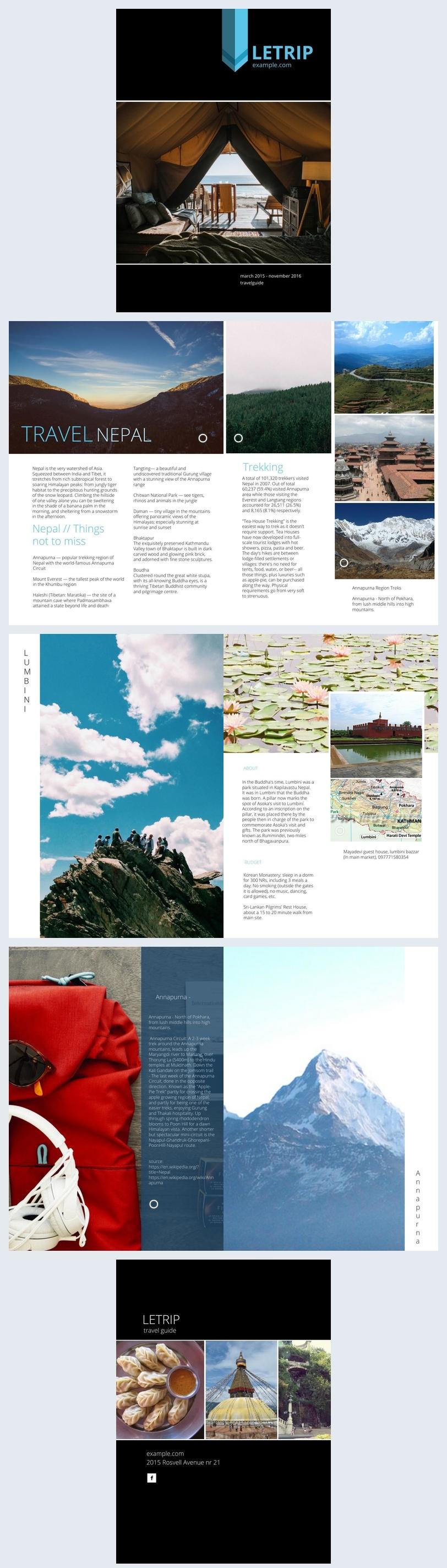Diseño para revista moderna de viajes