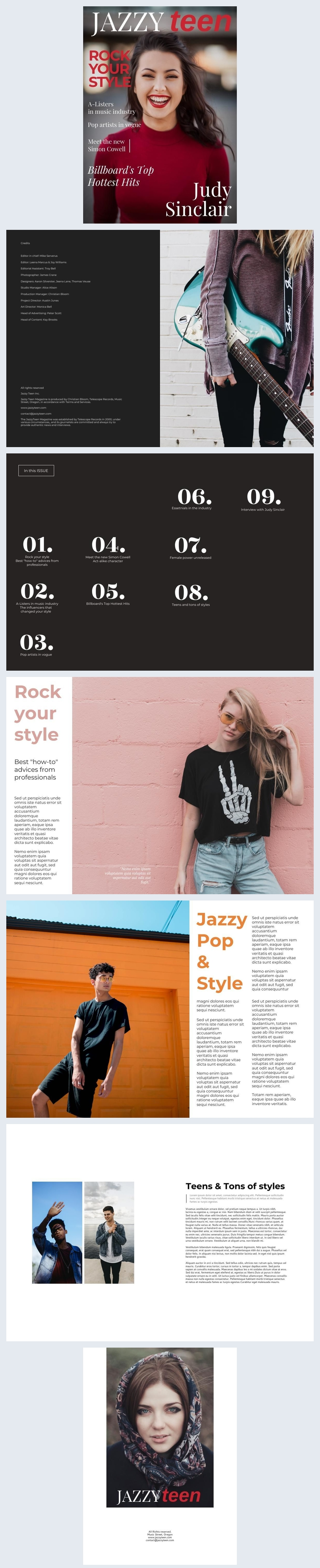 Teen Lifestyle Magazine Example