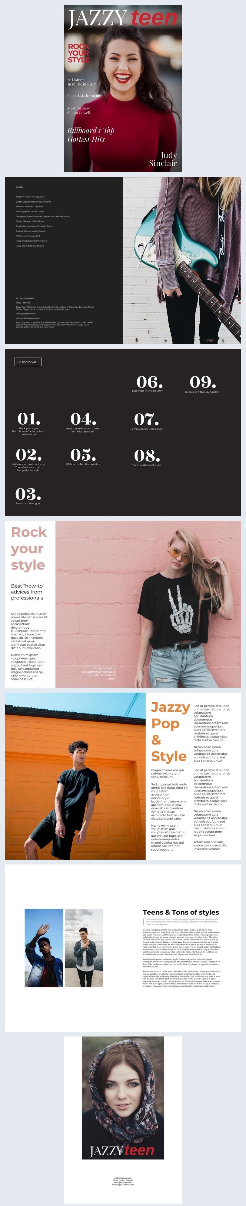 Teen Lifestyle Magazin-Beispiel