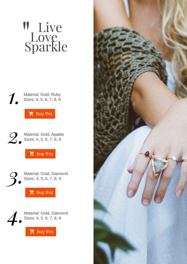 Jewelry Catalog Design