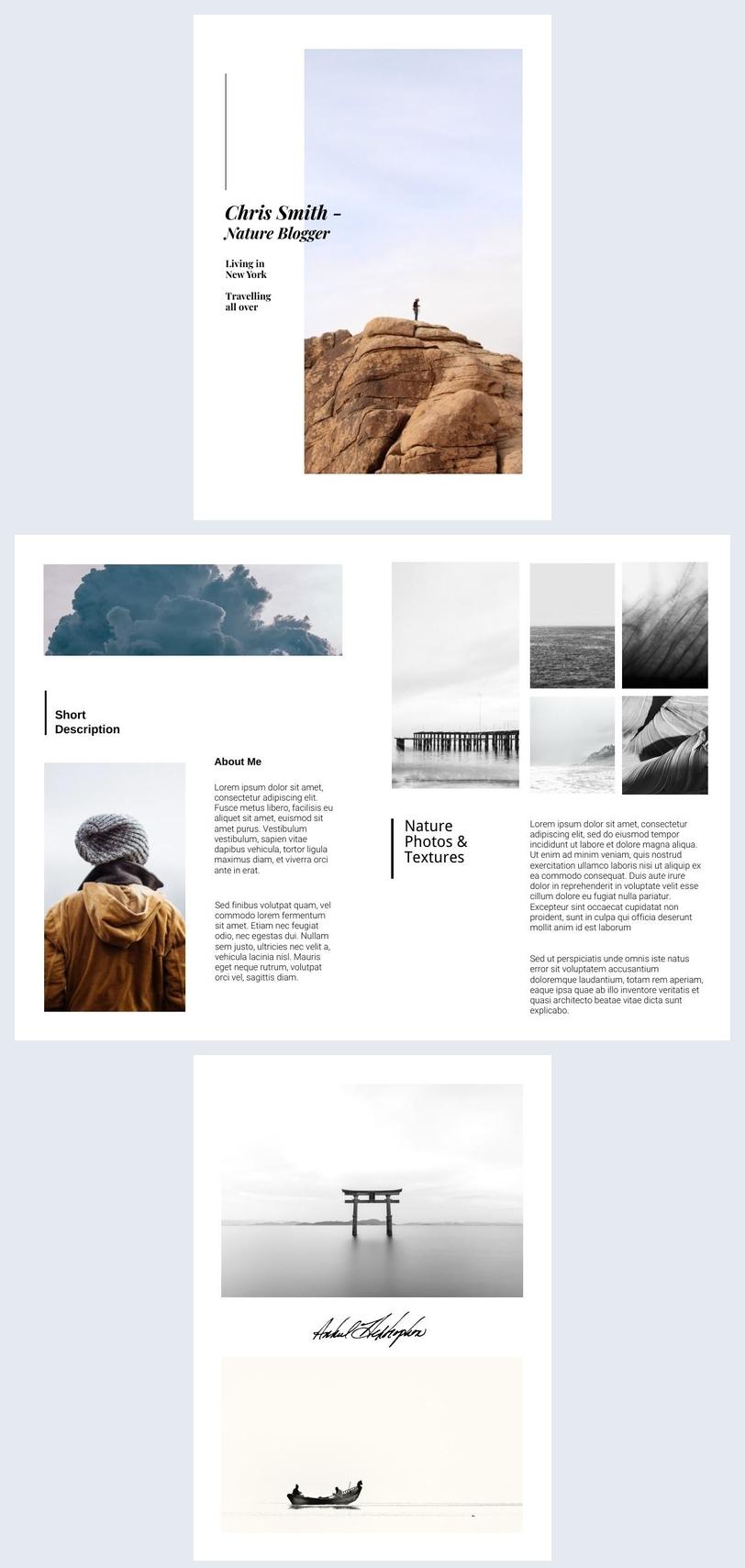 Reisefotografie-Broschüre Beispiel