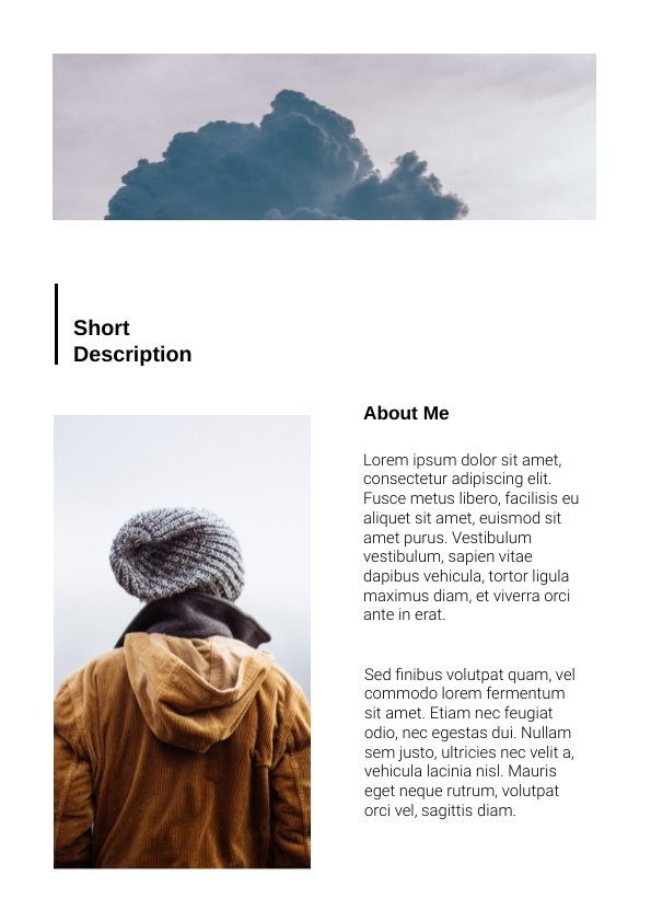 Travel Photography Brochure Example