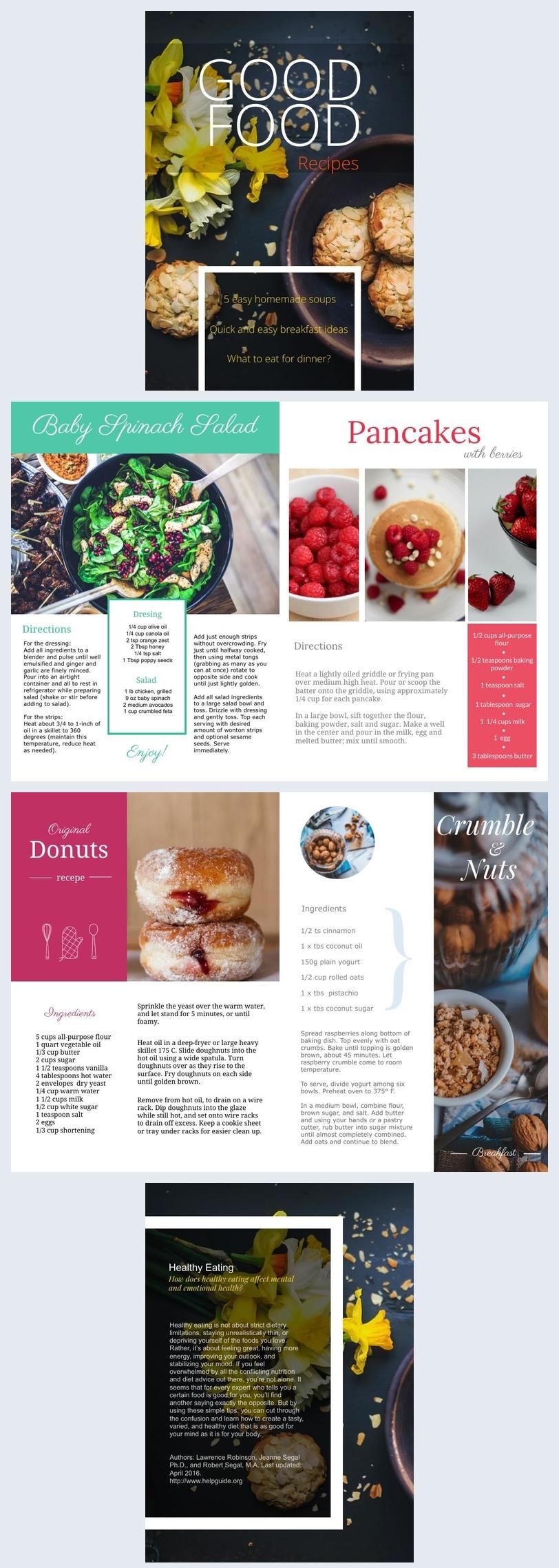 Diseño irresistible para libro de cocina