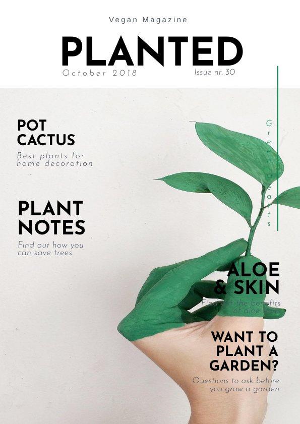 Fancy Gardening Magazine Design