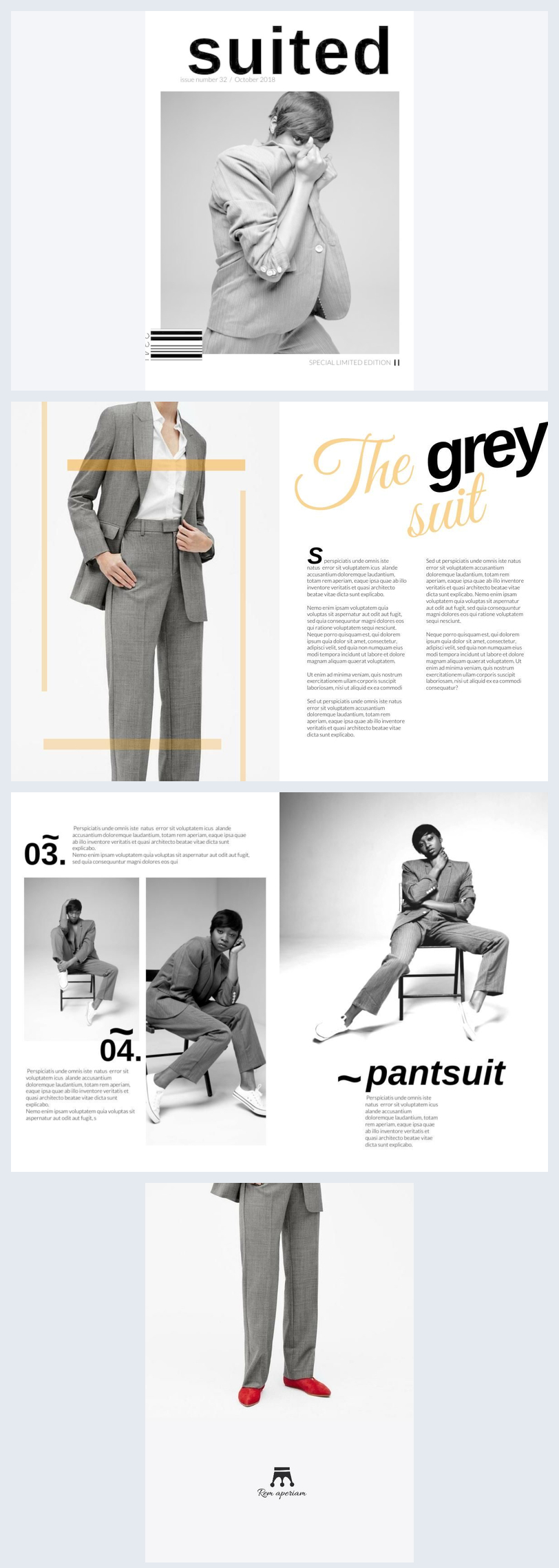 Black & White Fashion Magazine Design