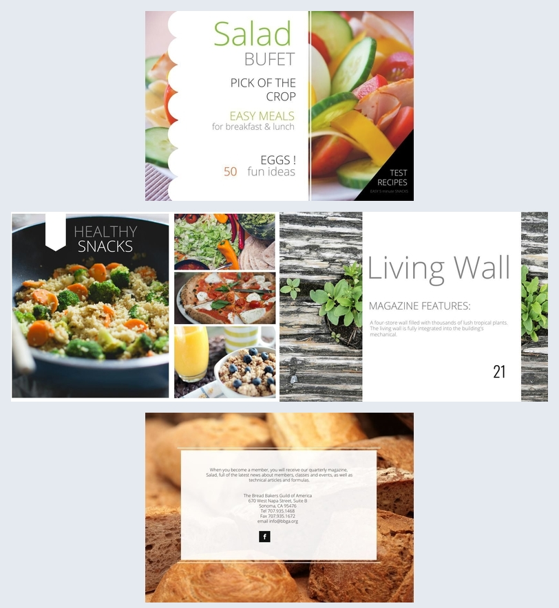 Salad Recipe Book Design