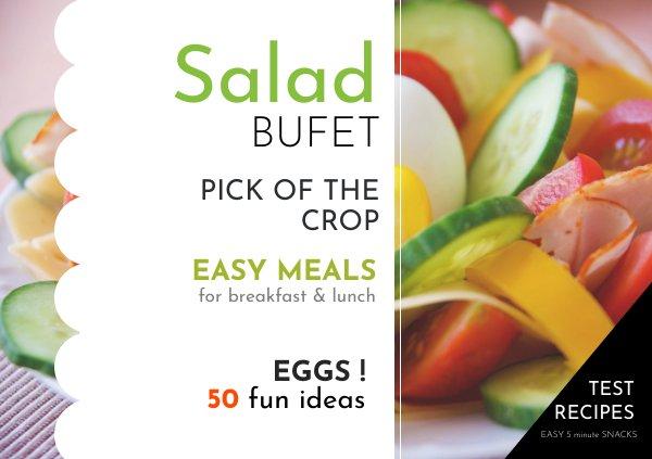Salad Recipe Book Design