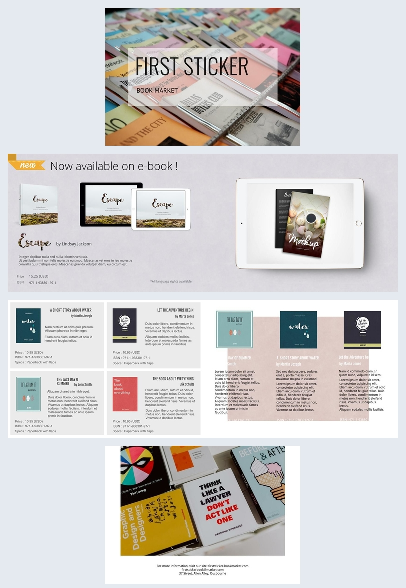 Book Market Brochure Design