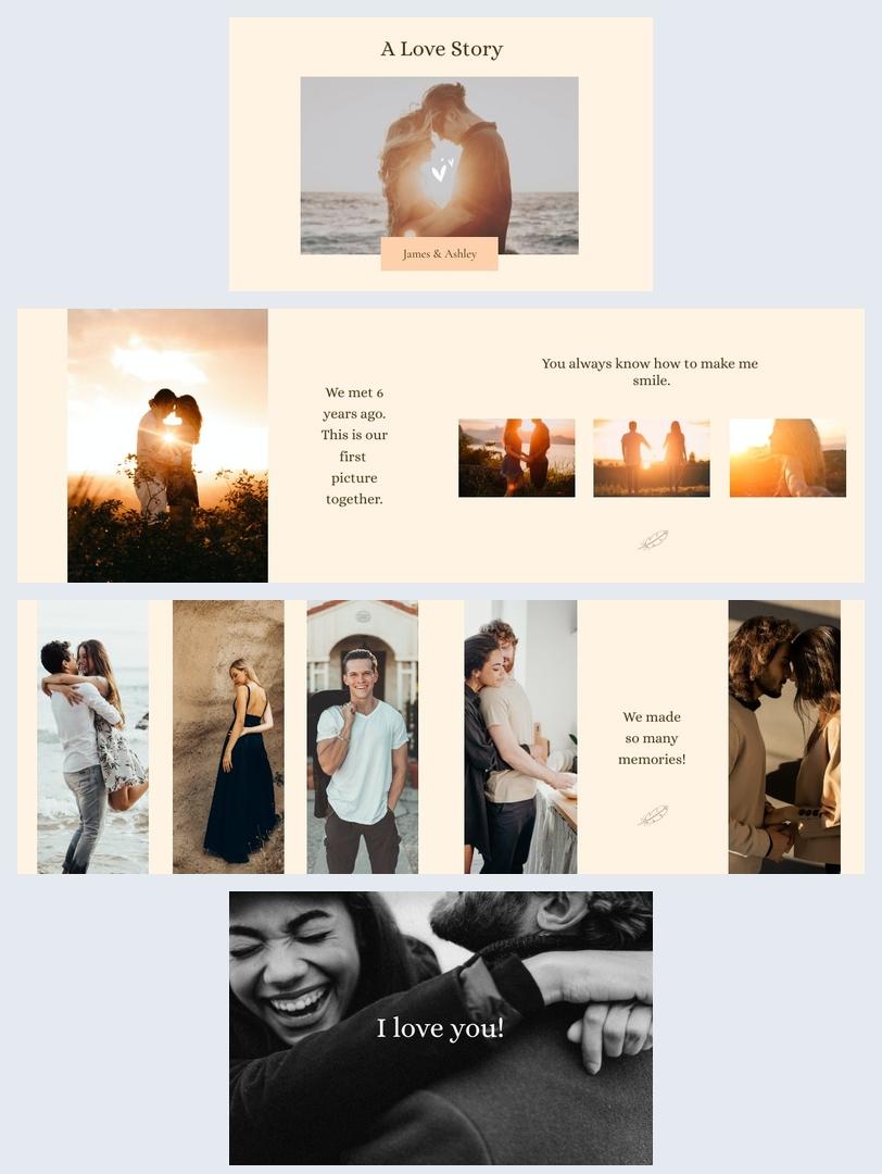 Design per album di fidanzamento