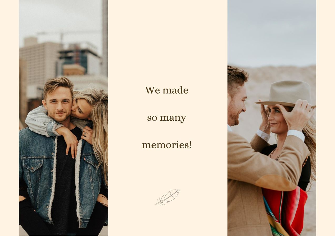 Engagement Photo Album Design