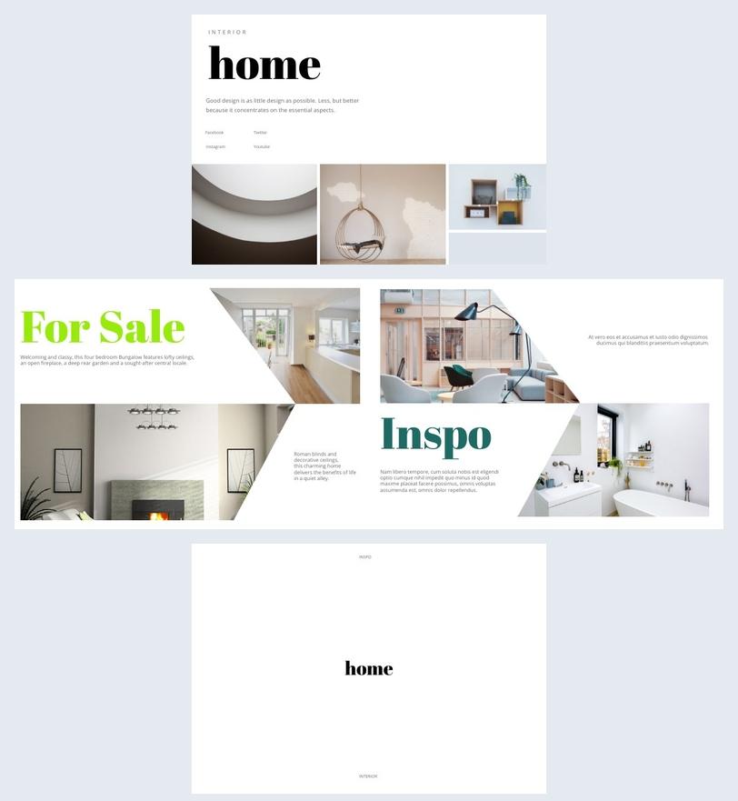 Diseño para folleto de diseño de interiores