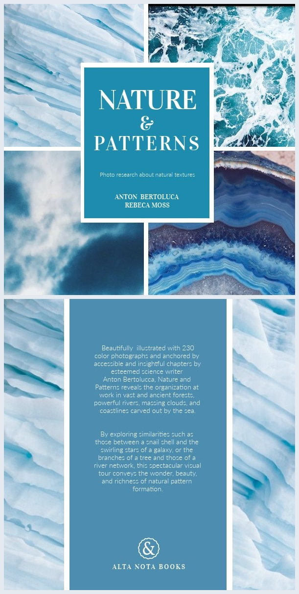 Blue and White Book Cover Design