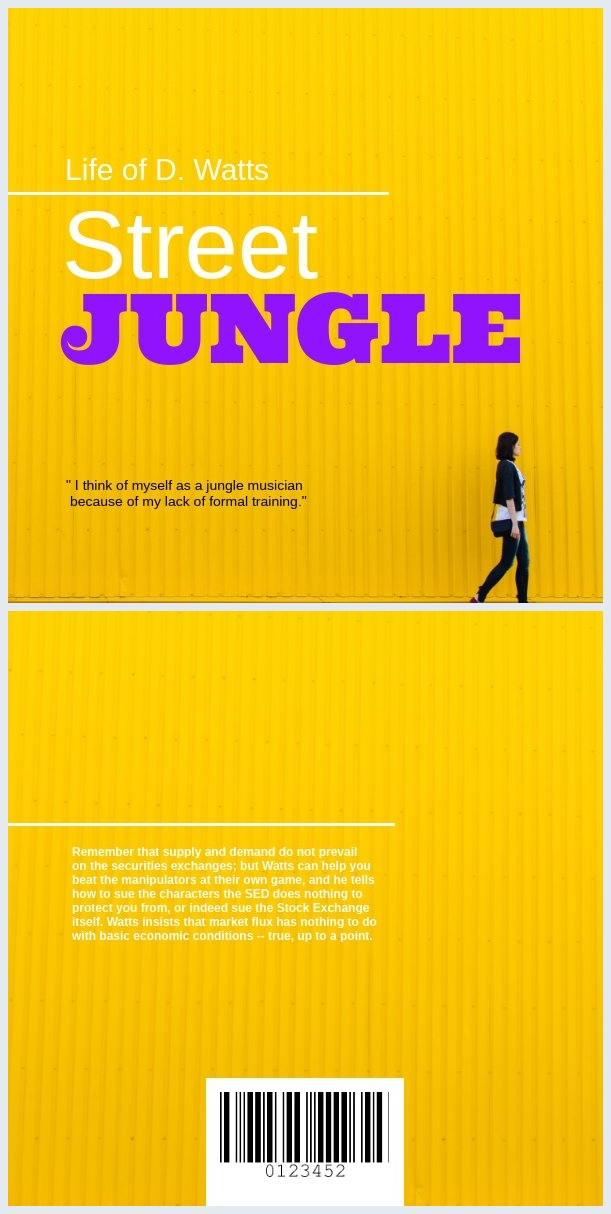 Yellow and Purple Book Cover