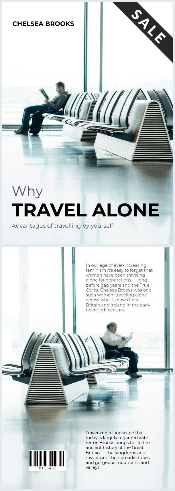 Copertina di libro per viaggiatori solitari