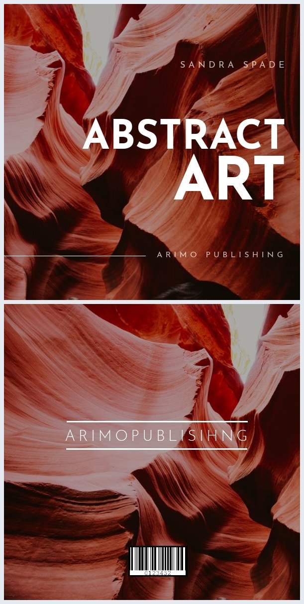 Abstract Art Book Cover Design