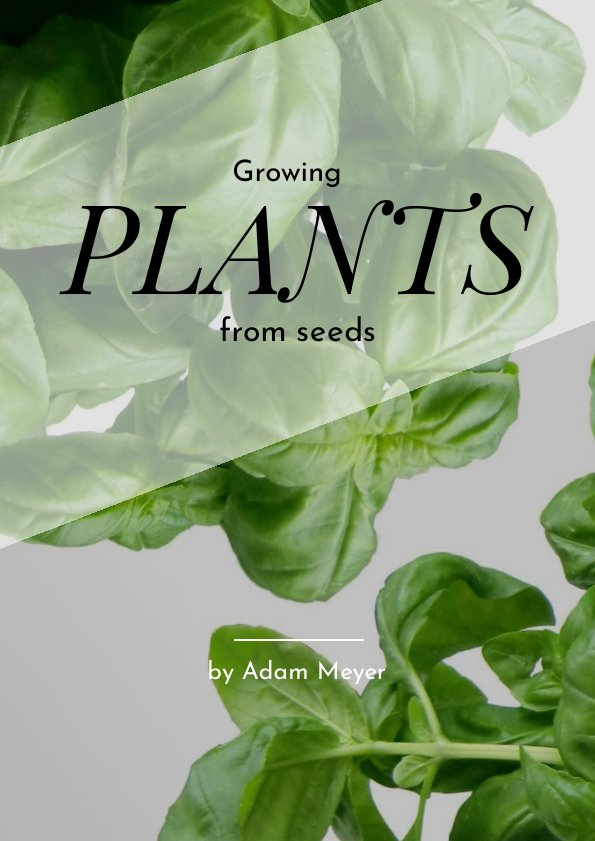 growing plants  u0026 gardening book cover template