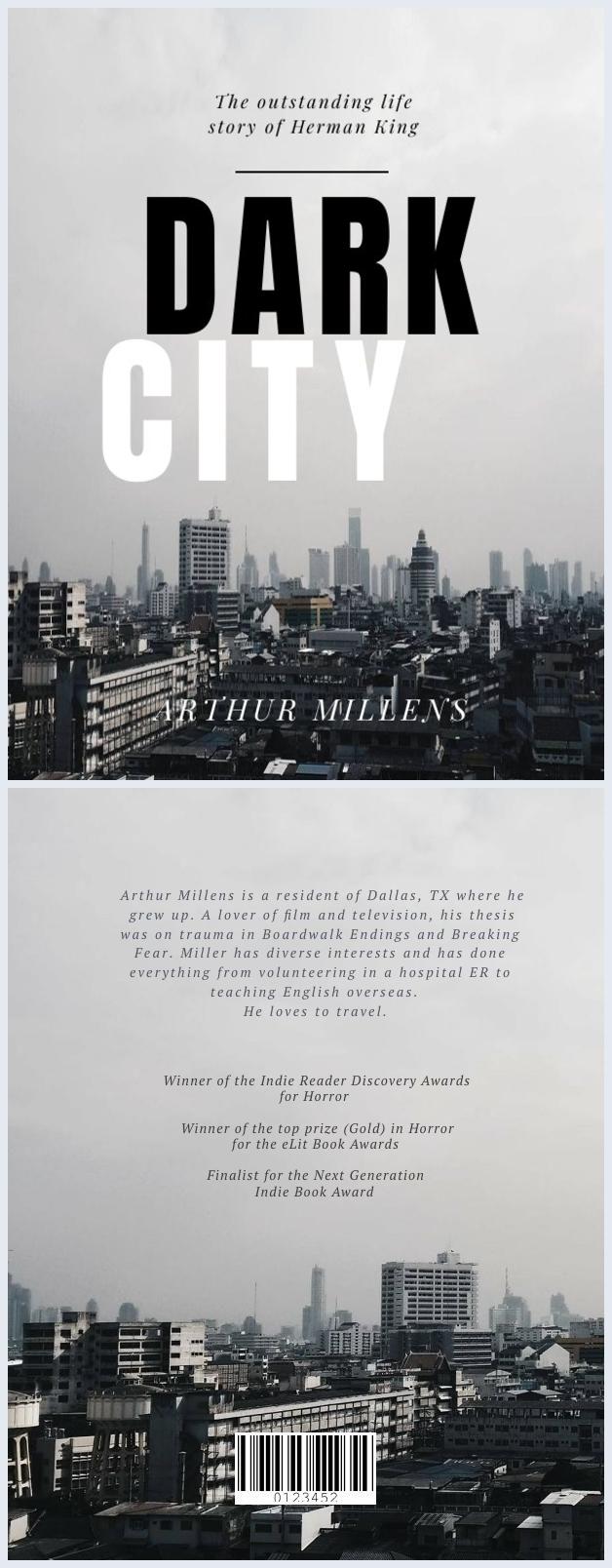 Design de couverture de livre horizon de ville